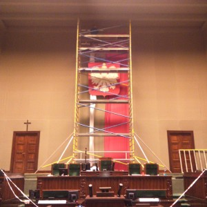 Montaż flagi SEJM