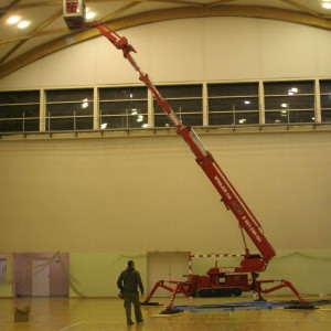 Wymiana lamp na hali sportowej
